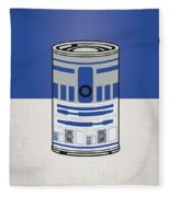 My Star Warhols R2d2 Minimal Can Poster Fleece Blanket
