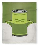 My Star Warhols Yoda Minimal Can Poster Fleece Blanket