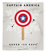 My Superhero Ice Pop - Captain America Fleece Blanket
