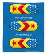My Superhero Pills - Wonder Woman Fleece Blanket