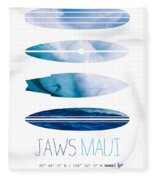 My Surfspots Poster-1-jaws-maui Fleece Blanket by Chungkong Art
