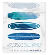 My Surfspots Poster-2-mavericks-california Fleece Blanket