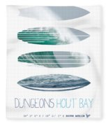My Surfspots Poster-4-dungeons-cape-town-south-africa Fleece Blanket by Chungkong Art