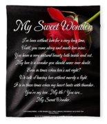 My Sweet Wonder Poetry Art Fleece Blanket