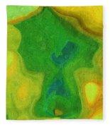 My Teddy Bear - Digital Painting - Abstract Fleece Blanket