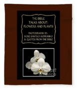 My The Bible Talks About Flowers And Plants Book Fleece Blanket