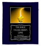 My The Bible Talks About Love Book Fleece Blanket