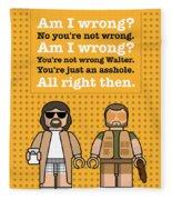 My The Big Lebowski Lego Dialogue Poster Fleece Blanket