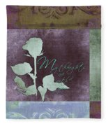 My Thoughts Are With You Card  Fleece Blanket
