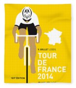 My Tour De France Minimal Poster 2014 Fleece Blanket