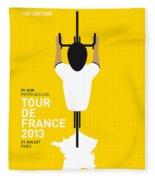 My Tour De France Minimal Poster Fleece Blanket
