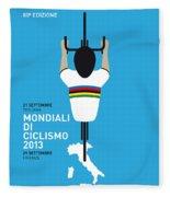 My World Championships Minimal Poster Fleece Blanket