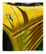 My Yellow Ferrari Fleece Blanket