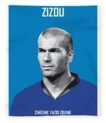 My Zidane Soccer Legend Poster Fleece Blanket