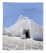 Mykonian Church Fleece Blanket