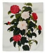 Myrtle Leaved Camellia Fleece Blanket