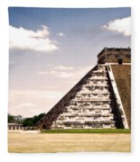Mysterious Chichen Itza Fleece Blanket