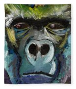 Mysterious Gorilla  Fleece Blanket