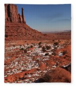 Mysterious Red Rocks Fleece Blanket