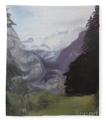 Mystery Mountains Fleece Blanket