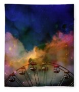 Take A Mystery Ride In The Multicolored Clouds Fleece Blanket