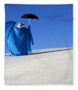Mystic Blue 7 Fleece Blanket