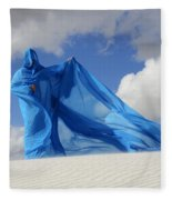 Mystic Blue 9 Fleece Blanket
