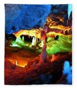 Mystic Caverns Fleece Blanket