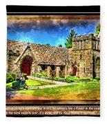 Mystic Church - Featured In Comfortable Art Group Fleece Blanket
