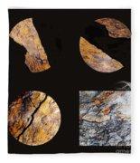 Mystic Fractures II Fleece Blanket