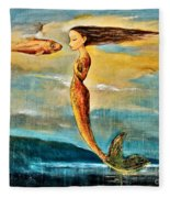 Mystic Mermaid IIi Fleece Blanket