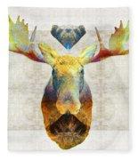 Mystic Moose Art By Sharon Cummings Fleece Blanket