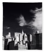 Mystical Manhattan Morning Fleece Blanket