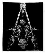 Mythology And Skulls 2 Fleece Blanket