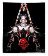 Mythology And Skulls Fleece Blanket