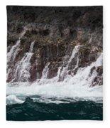 Na Pali Cascade Fleece Blanket