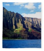 Na Pali Coast On Kauai Fleece Blanket