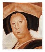 Nakamura Utaemon V Fleece Blanket