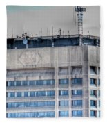 Naked Hsbc Tower V2 Fleece Blanket