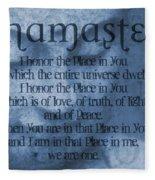 Namaste Blue Fleece Blanket