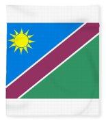Namibia Flag Fleece Blanket
