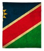 Namibia Flag Vintage Distressed Finish Fleece Blanket