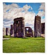 Nancy's Stonehenge Fleece Blanket