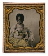 Nanny And Child, C1855 Fleece Blanket