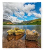 Nantlle Lake Fleece Blanket