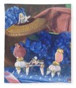 Nantucket Mermaid Tea Fleece Blanket