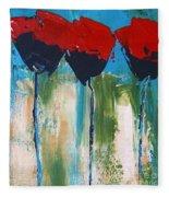 Napa Valley Red Poppys Fleece Blanket