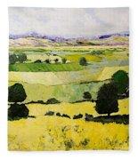Napa Yellow2 Fleece Blanket