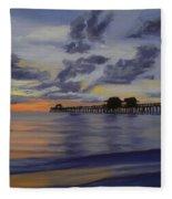 Naples Pier Naples Florida Fleece Blanket