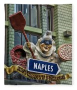 Naples Pizzeria Signage Downtown Disneyland Fleece Blanket